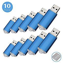 10Pack USB Flash Drive USB2.0 Memory Stick Memory Drive Pen Drive (1G, Blue)