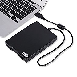 3.5″ USB External Floppy Disk Drive Portable 1.44 MB FDD for PC Windows 2000/XP/Vista/7/8/10 +Dust External Bag Case,Protect your drive Scratch-Resistant,No Need to Install Drive with CD,Plug and Play
