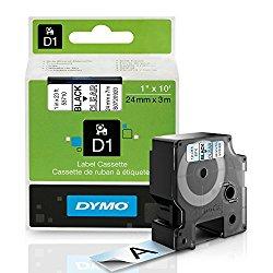"DYMO Standard D1 53710 Labeling Tape ( Black Print on Clear Tape , 1"" W x 23′ L , 1 Cartridge)"