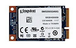 Kingston Digital 60GB SSDNow mS200 mSATA (6Gbps) Solid State Drive for Notebooks Tablets and Ultrabooks SMS200S3/60G