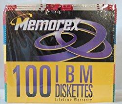 Memorex 100 IBM 3.5″ Diskettes – Multi colors