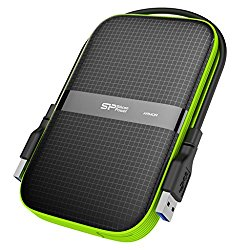 Silicon Power 2TB Rugged Armor A60 Shockproof / Water-Resistant 2.5-Inch USB 3.0 Military Grade Portable External Hard Drive,Black (SP020TBPHDA60S3K)