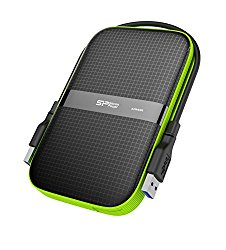 Silicon Power 4TB Rugged Armor A60 Shockproof / Water-Resistant 2.5-Inch USB 3.0 Portable External Hard Drive (SP040TBPHDA60S3K)