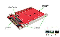 Ableconn IU2-M2132 M.2 NVMe SSD to U.2 (SFF-8639) 2.5-Inch SSD Adapter with Aluminum Frame Bracket – Turn M.2 NVMe SSD as U.2 (SFF-8639) 2.5″ Solid State Drive