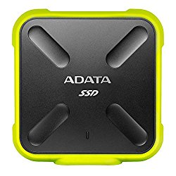 ADATA SD700 3D NAND 512GB Ruggedized Water/Dust/shock Proof External Solid State Drive Yellow (ASD700-512GU3-CYL)