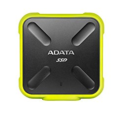 ADATA SD700 3D NAND 1TB Ruggedized Water/Dust/shock Proof External Solid State Drive Yellow (ASD700-1TU3-CYL)