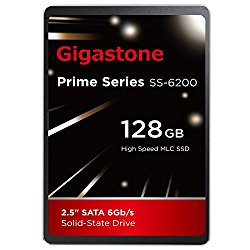 Gigastone 128GB SSD Intel MLC 2.5″ SATA 3 Solid State Drive [Performance HD Upgrade for HP Dell Samsung Sony Asus PC, Apple Mac Macbook, Laptop, Notebook Ultbook, Gaming, Video Editing, Server, Raid]