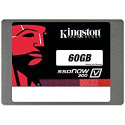 Kingston Digital 60GB SSDNow V300 SATA 3 2.5 (7mm height) Solid State Drive (SV300S37A/60G)