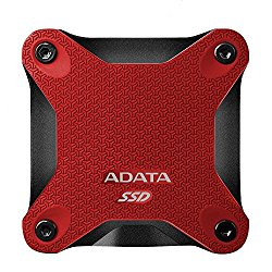ADATA SD600 3D NAND 256GB USB3.1 Ultra-Speed External Solid State Drive Read up to 440 MB/s Red (ASD600-256GU31-CRD)