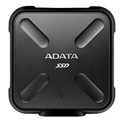 ADATA SD700 3D NAND 256GB Ruggedized Water/Dust/shock Proof External Solid State Drive BLACK (ASD700-256GU3-CBK)