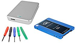 OWC 500GB Mercury Electra 6G SSD 7mm, 2.5″ USB 3.0 Express Enclosure Kit (Silver) DIY Drive Upgrade Install Kit For Mac or PC