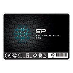 Silicon Power 60GB SSD S55 TLC (SLC Cache Performance Boost) SATA III 2.5″ 7mm (0.28″) Internal Solid State Drive- Free-download SSD Health Monitor Tool Included (SP060GBSS3S55S25)
