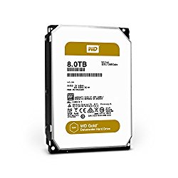 WD Gold 8TB Datacenter Hard Disk Drive – 7200 RPM Class SATA 6 Gb/s 128MB Cache 3.5 Inch – WD8002FRYZ