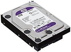 WD Purple 2TB Surveillance Hard Disk Drive – 5400 RPM Class SATA 6 Gb/s 64MB Cache 3.5 Inch – WD20PURZ