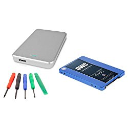 OWC 120GB SSD Drive Upgrade Kit: 120GB Mercury Extreme Pro 2.5″ 6G SSD 7mm, Express 2.5″USB 3.0 Drive Enclosure, and 5 Piece Toolkit