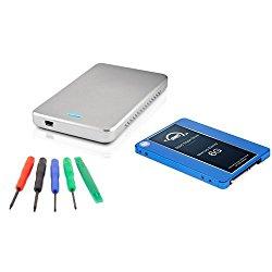 OWC 500GB SSD DIY Drive Upgrade Kit: 500GB Mercury Electra 2.5″ 6G SSD 7mm, OWC Express 2.5″ SATA Drive Enclosure, and OWC 5 Piece Toolkit