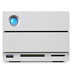 LaCie 2Big Dock RAID Thunderbolt 3 20TB 7200RPM External Hard Drive STGB20000400