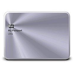 WD 1TB Silver My Passport Ultra Metal Edition Portable  External Hard Drive  – USB 3.0  – WDBTYH0010BSL-NESN