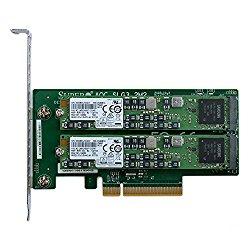 Supermicro AOC-SLG3-2M2 PCIe NVMe Dual M.2 x8 Gen 3 Adapter Card with 1.92TB (2x960GB) Samsung PM963 Enterprise SSD