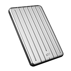 Silicon Power 2TB Slim & Rugged Armor A75 Shockproof USB 3.0 (USB 3.1 Gen 1) 2.5″ Portable External Hard Drive for PC, Mac (Xbox, PS4 Compatible), Silver