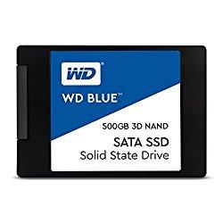 WD Blue 3D NAND 500GB PC SSD – SATA III 6 Gb/s 2.5″/7mm Solid State Drive – WDS500G2B0A