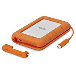 LaCie 2TB Rugged Thunderbolt / USB-C Mobile External Hard Drive, 130MB/s Transfer Rate