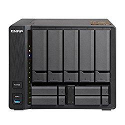 Qnap TS-963X-2G-US 5 (+4) Bay 10G AMD 64bit x86-based NAS, Quad Core 2.0GHz, 2GB RAM, 1 x 1GbE, 1 x 10GbE (10GBASE-T)