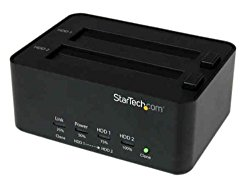 StarTech.com HDD Docking Station – USB 3.0 to 2.5/3.5in SATA Hard Drive Dock with Standalone HDD/SSD Duplication / Clone