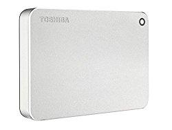 Toshiba Canvio Premium 3TB Portable External Hard Drive USB 3.0, Silver (HDTW230XS3CA)