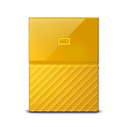 WD 2TB Yellow My Passport  Portable External Hard Drive – USB 3.0 – WDBYFT0020BYL-WESN