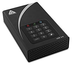 Apricorn Aegis Padlock 4 TB DT 256-bit Encryption USB 3 Hard Drive (ADT-3PL256-4000)