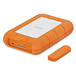 LaCie Rugged RAID Pro 4TB USB-C Portable Hard Drive + 1mo Adobe CC All Apps (STGW4000800)