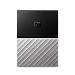 WD 2TB My Passport Ultra Portable External Hard Drive – USB 3.0 – Black-Gray – WDBFKT0020BGY-WESN