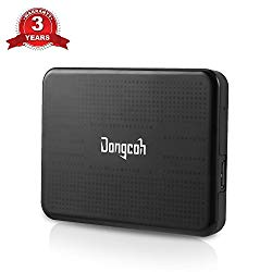 External Hard Drive 500GB, Dongcoh Portable High Capacity HDD – USB 2.0 – Data Transfer External Storage HDD for Laptop, Xbox One, Windows