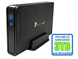 HornetTek Viper 3TB (3000GB) 7200RPM 64MB Cache USB 3.0 External PS4 Hard Drive (PS4 Pre-Formatted) – PS4, PS4 Slim & PS4 Pro