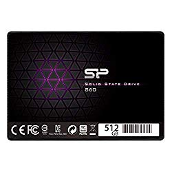 Silicon Power 512GB SSD MLC S60 SATA III 2.5″ 7mm (0.28″) Internal Solid State Drive (SP512GBSS3S60S25AE)