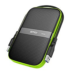Silicon Power 5TB Rugged Portable External Hard Drive Armor A60, Shockproof USB 3.0 for PC, Mac, Xbox and PS4, Black