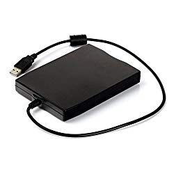 Heckia USB Floppy Drive, 3.5″ Portable 1.44 MB FDD for PC Windows 10 7 8 Windows XP Vista Mac, Plug and Play, Black