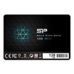 Silicon Power 128GB SSD 3D NAND A55 SLC Cache Performance Boost SATA III 2.5″ 7mm (0.28″) Internal Solid State Drive (SU128GBSS3A55S25AC)