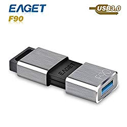 USB Flash Drive Eaget F90 USB 3.0 High Speed Capless Water Resistant Pen Drive Shock Resistant Thumb Drive 256GB