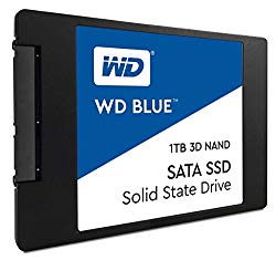 WD Blue 3D NAND 1TB PC SSD – SATA III 6 Gb/s, 2.5″/7mm – WDS100T2B0A