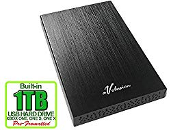 Avolusion HD250U3 1TB USB 3.0 Portable External Gaming Xbox One Hard Drive (Xbox Pre-Formatted) – Black w/2 Year Warranty