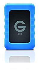 G-Technology 1TB G-DRIVE ev RaW SSD Portable External Storage with Removable Protective Rubber Bumper – USB 3.0 – 0G04759