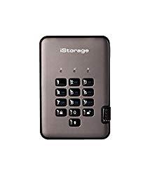 iStorage IS-DAP2-256-SSD-128-C-G 128GB diskAshur PRO2 USB 3.1 Portable encrypted SSD Drive