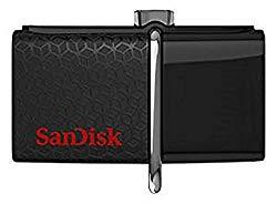 SanDisk 64GBUltra Dual USB Drive 3.0, SDDD2-064G-GAM46(Black)