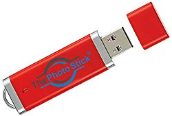 ThePhotoStick 128 — Easy, One Click Photo and Video Backup, 128GB