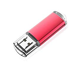 KOOTION 32GB USB 2.0 Flash Drive Thumb Drive Memory Stick Pen Drive with LED Indicator, Red