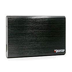 Fantom Drives External SSD 1TB USB 3.1 Gen 2 Type-C 10Gb/s – Black – Windows – GFORCE 3.1 Portable SSD Series – CSD1000B-W