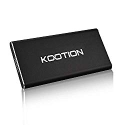 KOOTION 60GB Portable External SSD USB 3.0 High Speed Read & Write up to 400MB/s&300MB/s External Storage Ultra-Slim Solid State Drive for PC, Desktop, Laptop, MacBook