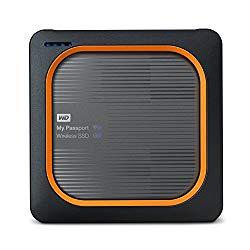 WD 1TB My Passport Wireless SSD External Portable Drive – WiFi USB 3.0 –WDBAMJ0010BGY-NESN